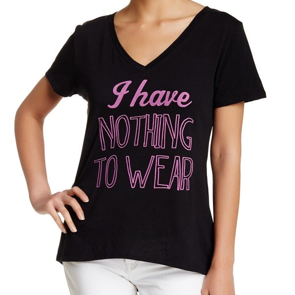 d70e4977e8 Shop Recycled Karma NEW Black Pink Womens Small S Nothing To Wear Tee  T-Shirt 764 - Free Shipping On Orders Over  45 - Overstock.com - 21135933