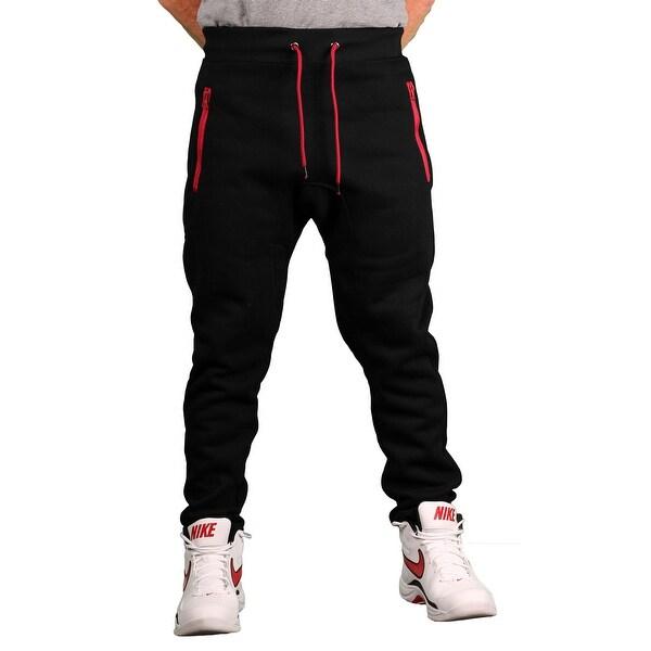 Brooklyn Xpress Men's Fleece Jogger Pant w/Zippered Pockets