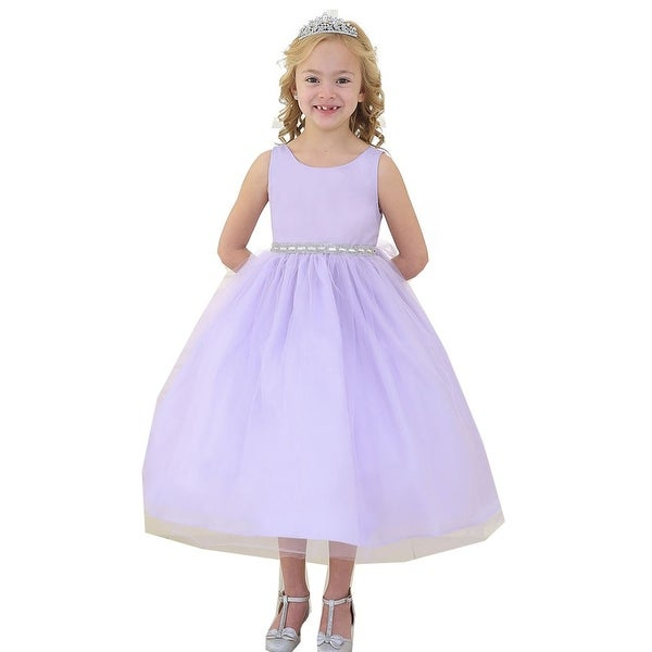 89a6ff8625 Shop Little Girls Lilac Rhinestone Tulle Flower Girl Dress 2T-6 - Free  Shipping Today - Overstock.com - 18172032