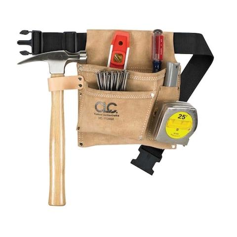 CLC IPK489X Nail & Tools Bag With Poly Web Belt, 3 Pockets, Large