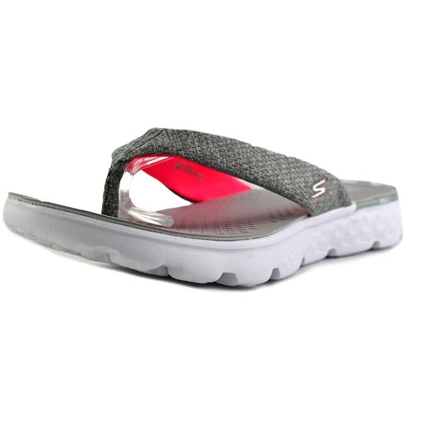 956eb86b4ea Skechers On-the-go 400-Vivacity Women Open Toe Canvas Gray Thong Sandal