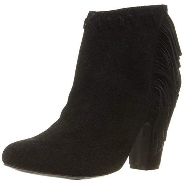 Mia Womens Selina Ankle Boots Suede Fringe