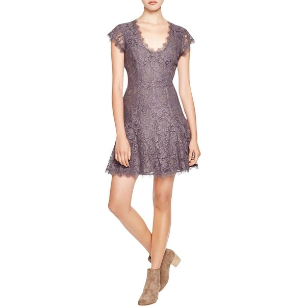 Joie Womens Cocktail Dress Lace A-Line