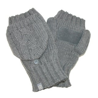 Isotoner Women's Chunky Cable Knit Convertible Gloves - One Size