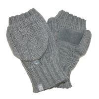 Isotoner Women's Chunky Cable Knit Convertible Gloves