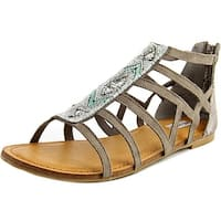 Not Rated Womens Crystalyn Fabric Open Toe Casual Gladiator Sandals