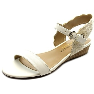Julianne Hough Robyn Women Open Toe Leather White Wedge Sandal