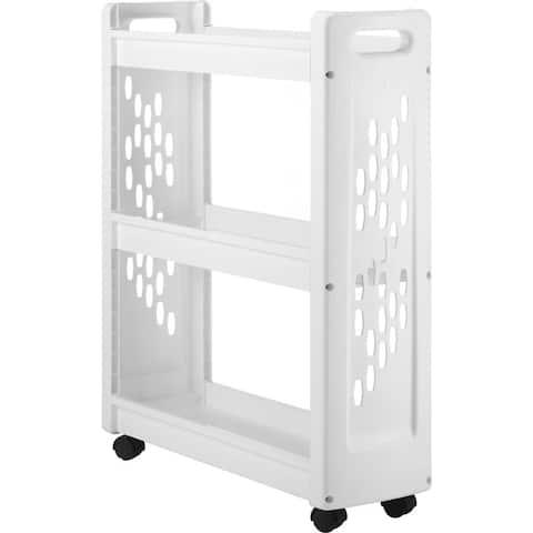 Whitmor 6208-5120 laundry cart 3tier slim white