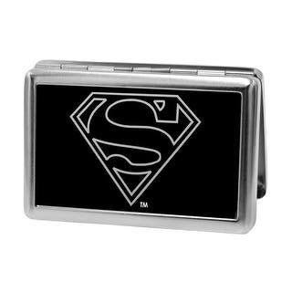Superman Logo Outline Reverse Brushed Business Card Holder LARGE|https://ak1.ostkcdn.com/images/products/is/images/direct/0356d05641e9e3b09567abd005460a2a00bc6dc1/Superman-Logo-Outline-Reverse-Brushed-Business-Card-Holder-LARGE.jpg?impolicy=medium