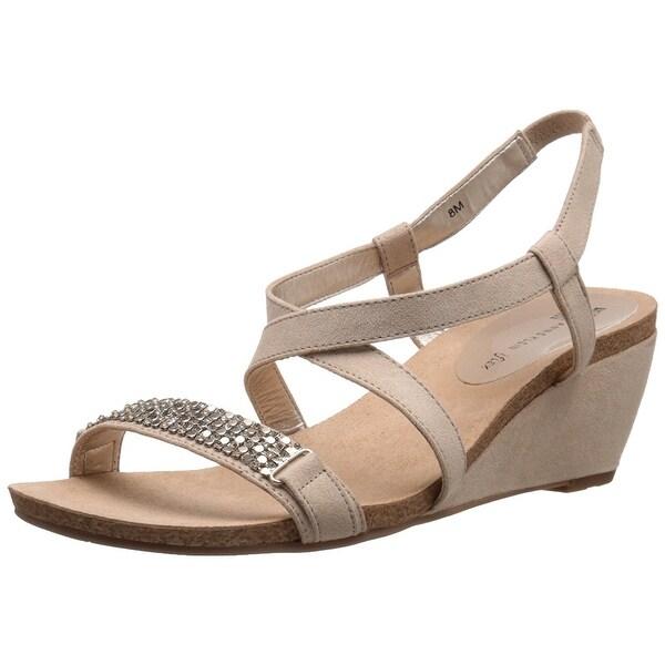 Anne Klein Womens Jasia Open Toe Casual Platform Sandals