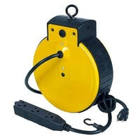 Bayco Triple-Tap Extension Cord 30' Retractable Reel SL-800 - SL-800