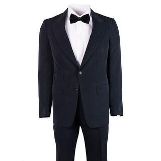 Tom Ford Mens Dark Blue 100% Silk Shelton Suit - 38 r
