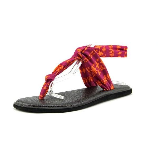 Sanuk Yoga Sling Ella Prints Women Open Toe Synthetic Multi Color Thong Sandal