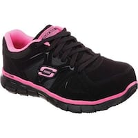 Skechers Women's Work Synergy Sandlot ST Black/Pink