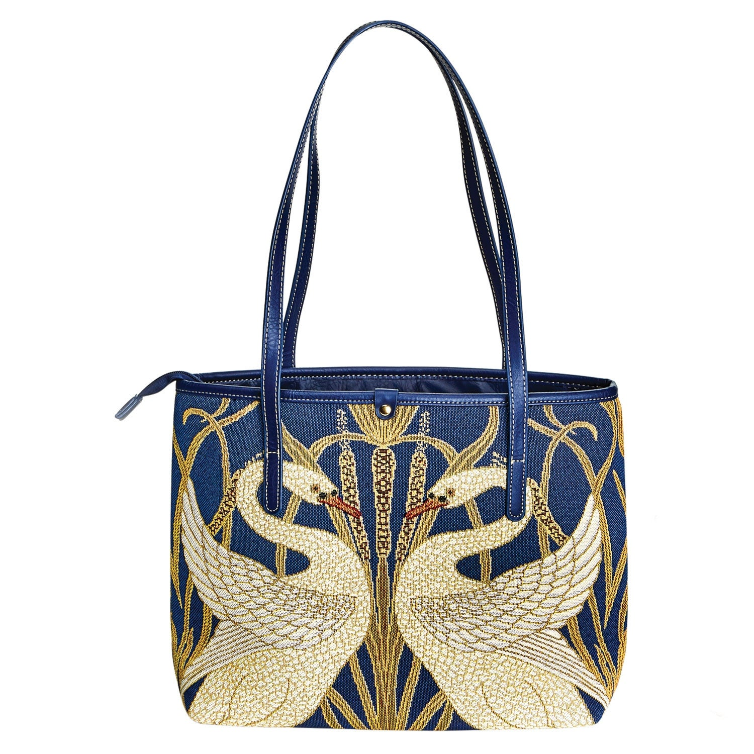 Signare Women's Swans Tapestry Tote Bag - Square Bird Purse with ...