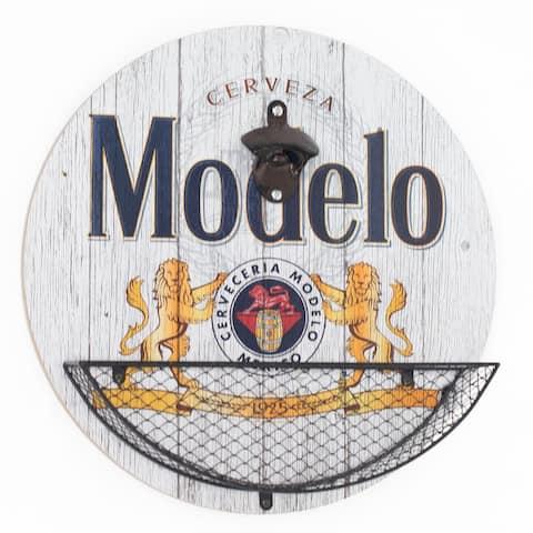 "Modelo Beer Bottle Opener & Cap Catcher Wall Decor - 14"""
