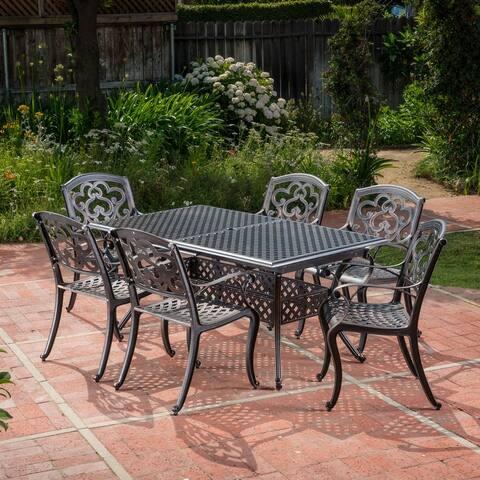 CKH Abigal Outdoor Copper Cast Cast Aluminum Rustic Dining Set