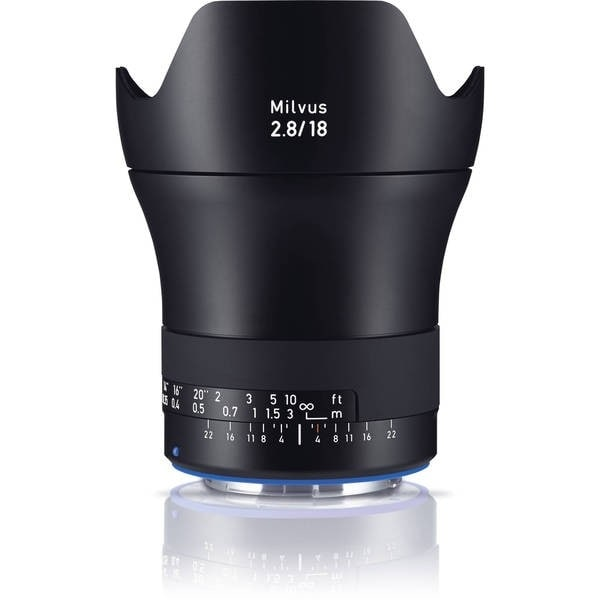 Zeiss Milvus 18mm f/2.8 ZE Lens for Canon EF - black
