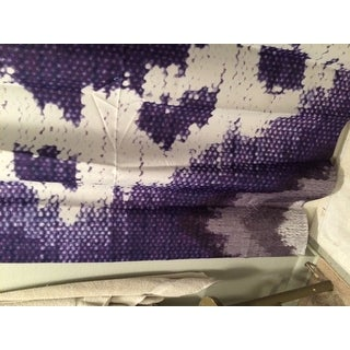 Tribal Ikat Plum Shower Curtain