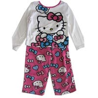 Hello Kitty Little Girls Fuchsia Kitty Image Bow Print 2 Pc Pajama Set 2T-4T