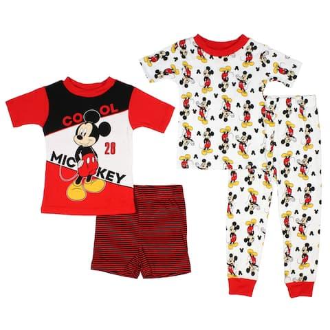 "Disney Junior Toddler Boys' Mickey Mouse ""Mickey 28 Cool"" 2 Cotton Pajama Sets"