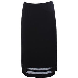Vince Camuto Womens Knit Illusion Maxi Skirt - 2X