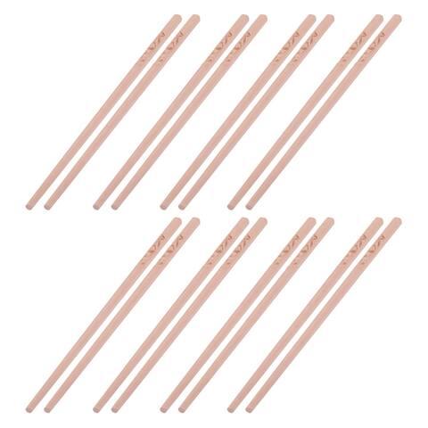 Wood Panda Pattern Food Serving Chopsticks Beige 24cm Length 8 Pairs