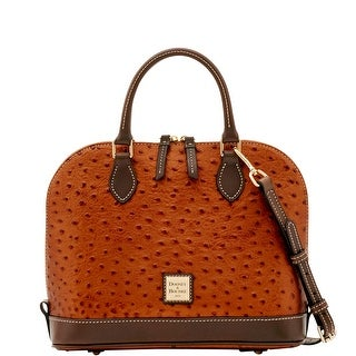 Dooney & Bourke Ostrich Zip Zip Satchel (Introduced by Dooney & Bourke at $238 in Jun 2017) - bronze grey