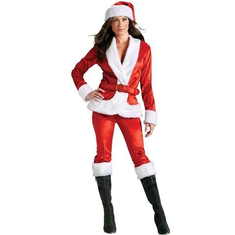 Fun World Ms. Santa Pants Set Adult Costume - Red