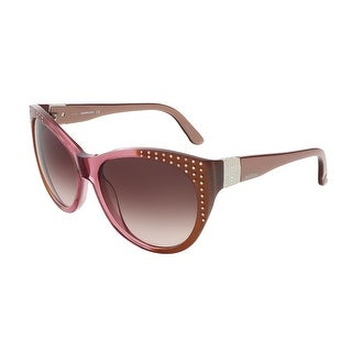 Swarovski SK0087/S 38F Bronze Shaded Transparent Rose Butterfly sunglasses - bronze shaded transparent rose - 58-16-135