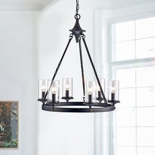 Elbrus 6 Light Candle Style Wheel Chandelier On Sale Overstock 31278909