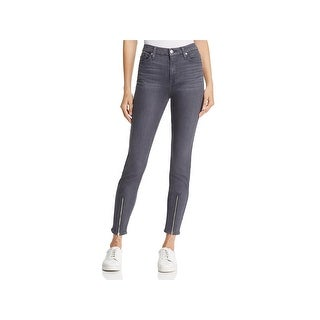 7 For All Mankind Womens Ankle Jeans High-Waist Skinny