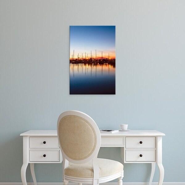 Easy Art Prints Larry Ditto's 'Texas Harbor At Sunset' Premium Canvas Art