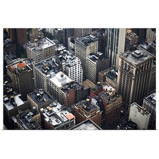 """""""Aerial view of New York City"""" Poster Print"""