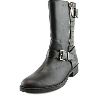 INC International Concepts Womens BLAYRE Leather Almond Toe Mid-Calf Motorcyc... (2 options available)