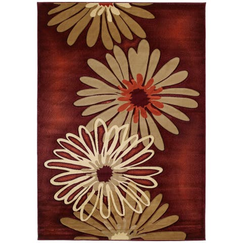 Westfield Home Sculptures Lilly Hand Carved Terracotta Area Rug
