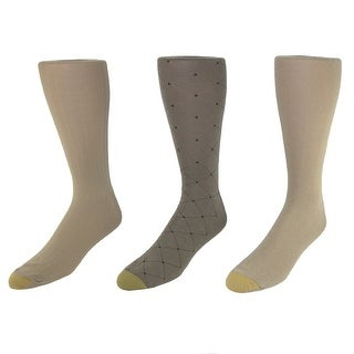 Gold Toe Men's Moisture Control Fashion Socks (Pack of 3), Shoe Size 6 - 12 1/2 - One Size