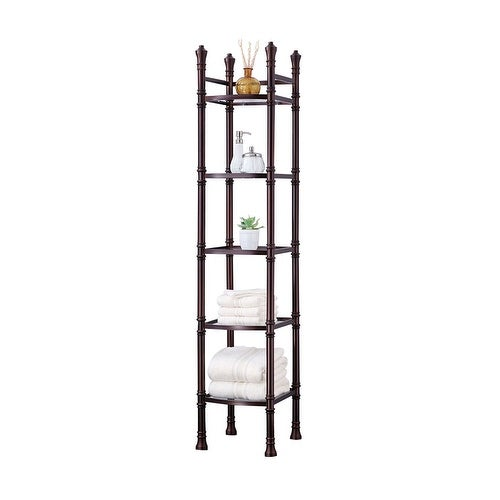 Offex Monaco Tall Etagere - Oil Rubbed Bronze