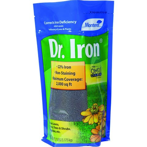 Monterey LG7115 Dr Iron No Stain Formula with 22% Iron & 55% Sulfur, 7 Lbs