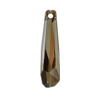 Swarovski Elements Crystal, 6017/G Grand Crystalactite Pendant 30mm, 1 Piece, Crystal Bronze Shade V