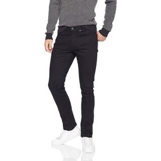 Essentials Men's Skinny-Fit Stretch Jean, Black, 42W x 32L - 42W x 32L