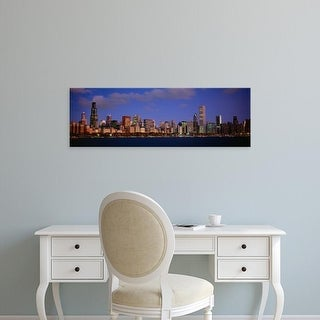 Easy Art Prints Panoramic Image 'Buildings at the waterfront, Lake Michigan, Chicago, Illinois, USA' Premium Canvas Art