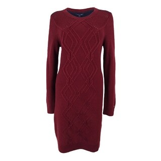 Tommy Hilfiger Women's Adela Cable-Knit Sweater Dress