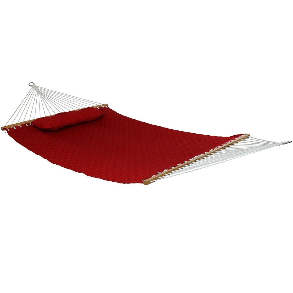Sunnydaze Quilted Double Fabric 2-Person Hammock - Hammock Only - Thumbnail 3