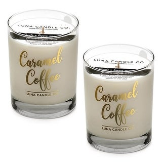 Fragrant Caramel Coffee Scented Candle, Natural Soy Wax, USA (2 Pack)