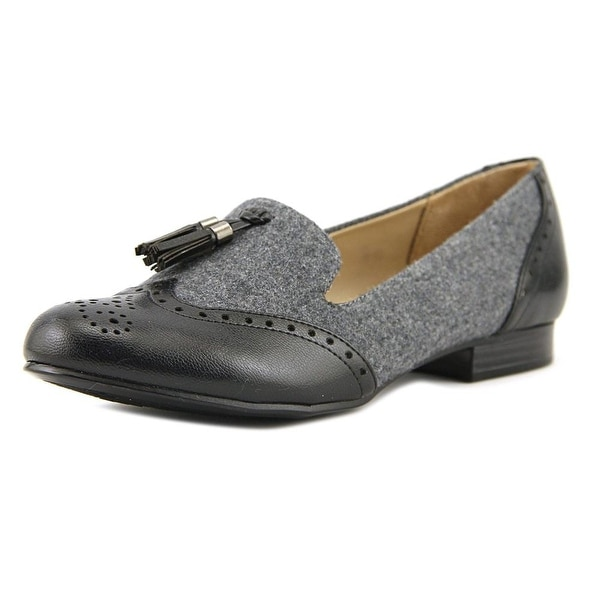 Naturalizer Lorraine Women Wingtip Toe Synthetic Gray Loafer