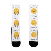 I'm Feeling Waffle US Size 7-13 Socks by LookHUMAN