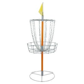 Driftsun Sports Portable Disc Golf Basket - Lightweight Steel Disk Target - Orange