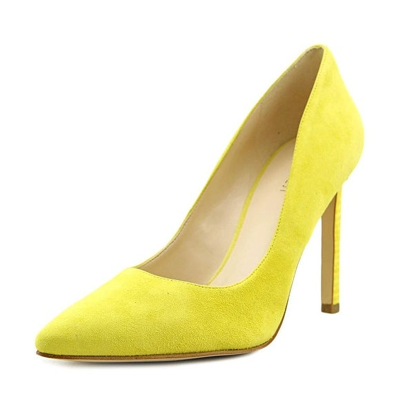 f7e7586c6a Shop Nine West Tatiana Women Pointed Toe Suede Yellow Heels - Free ...