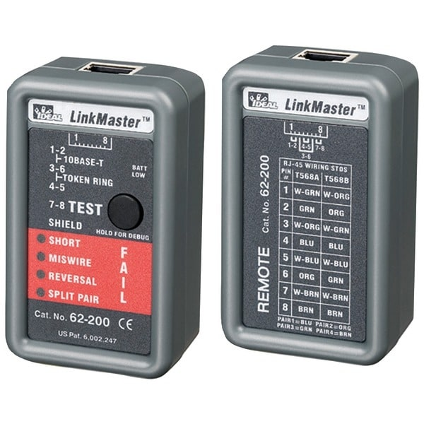 Ideal 62-200 Linkmaster(Tm) Ethernet Tester